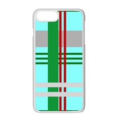 Christmas Plaid Backgrounds Plaid Apple Iphone 8 Plus Seamless Case (white)