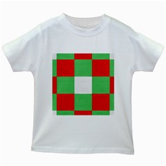 Fabric Christmas Colors Bright Kids White T Shirts