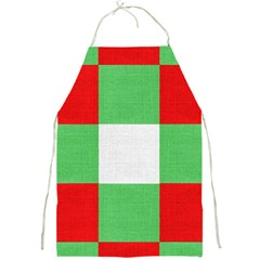 Fabric Christmas Colors Bright Full Print Aprons by Sapixe