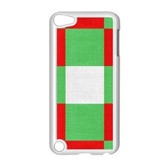 Fabric Christmas Colors Bright Apple Ipod Touch 5 Case (white) by Sapixe