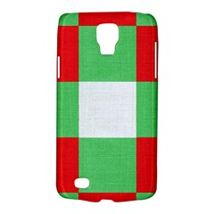 Fabric Christmas Colors Bright Galaxy S4 Active by Sapixe