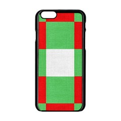 Fabric Christmas Colors Bright Apple Iphone 6/6s Black Enamel Case by Sapixe