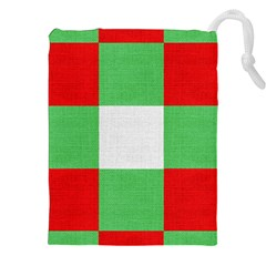 Fabric Christmas Colors Bright Drawstring Pouches (xxl) by Sapixe