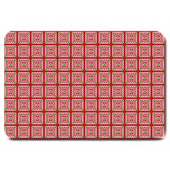 Christmas Paper Wrapping Paper Large Doormat  by Sapixe