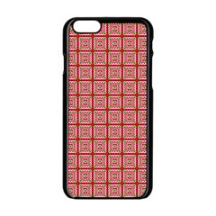 Christmas Paper Wrapping Paper Apple Iphone 6/6s Black Enamel Case