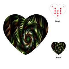 Fractal Christmas Colors Christmas Playing Cards (heart)