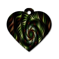 Fractal Christmas Colors Christmas Dog Tag Heart (one Side) by Sapixe