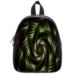 Fractal Christmas Colors Christmas School Bag (small) by Sapixe