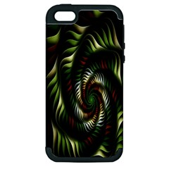 Fractal Christmas Colors Christmas Apple Iphone 5 Hardshell Case (pc+silicone) by Sapixe
