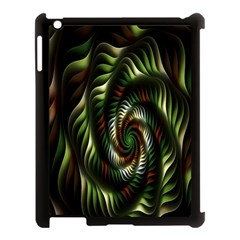 Fractal Christmas Colors Christmas Apple Ipad 3/4 Case (black) by Sapixe