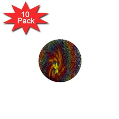 Fire New Year S Eve Spark Sparkler 1  Mini Buttons (10 Pack)