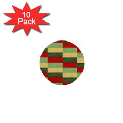 Fabric Coarse Texture Rough Red 1  Mini Buttons (10 Pack)