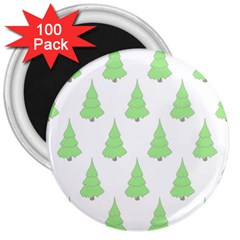 Background Christmas Christmas Tree 3  Magnets (100 Pack) by Sapixe