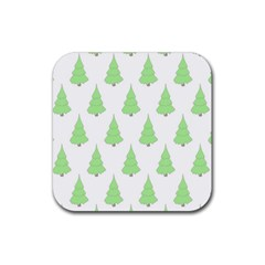 Background Christmas Christmas Tree Rubber Coaster (square)