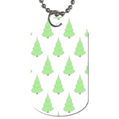 Background Christmas Christmas Tree Dog Tag (two Sides)