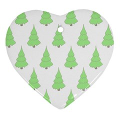 Background Christmas Christmas Tree Heart Ornament (two Sides)