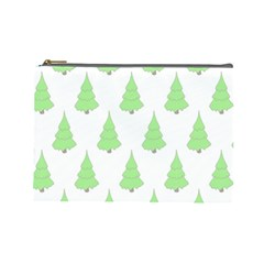 Background Christmas Christmas Tree Cosmetic Bag (large)  by Sapixe