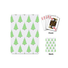 Background Christmas Christmas Tree Playing Cards (mini)  by Sapixe