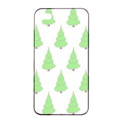 Background Christmas Christmas Tree Apple Iphone 4/4s Seamless Case (black)