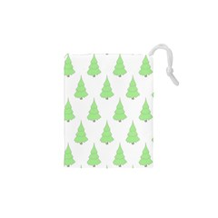 Background Christmas Christmas Tree Drawstring Pouches (xs)  by Sapixe