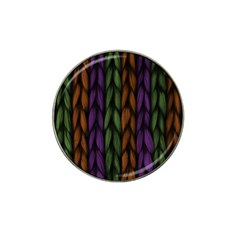 Background Weave Plait Purple Hat Clip Ball Marker (4 Pack)