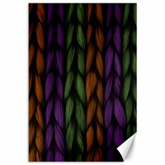 Background Weave Plait Purple Canvas 12  X 18