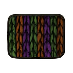 Background Weave Plait Purple Netbook Case (small)  by Sapixe
