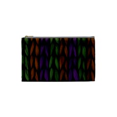 Background Weave Plait Purple Cosmetic Bag (small)