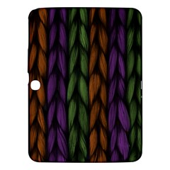 Background Weave Plait Purple Samsung Galaxy Tab 3 (10 1 ) P5200 Hardshell Case
