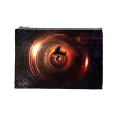 Steampunk Airship Sailing The Stars Of Deep Space Cosmetic Bag (large)  by jayaprime