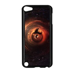 Steampunk Airship Sailing The Stars Of Deep Space Apple Ipod Touch 5 Case (black) by jayaprime