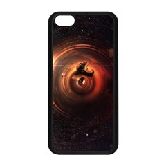 Steampunk Airship Sailing The Stars Of Deep Space Apple Iphone 5c Seamless Case (black) by jayaprime