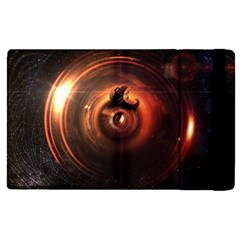 Steampunk Airship Sailing The Stars Of Deep Space Apple Ipad Pro 12 9   Flip Case by jayaprime