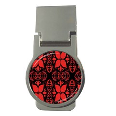 Christmas Red And Black Background Money Clips (round)