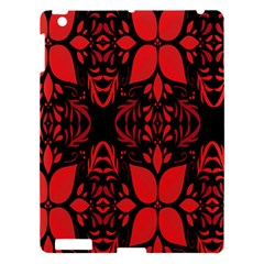 Christmas Red And Black Background Apple Ipad 3/4 Hardshell Case by Sapixe