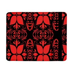 Christmas Red And Black Background Samsung Galaxy Tab Pro 8 4  Flip Case