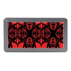 Christmas Red And Black Background Memory Card Reader (mini)