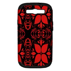 Christmas Red And Black Background Samsung Galaxy S Iii Hardshell Case (pc+silicone)
