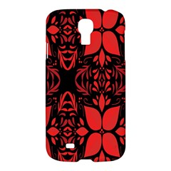 Christmas Red And Black Background Samsung Galaxy S4 I9500/i9505 Hardshell Case by Sapixe