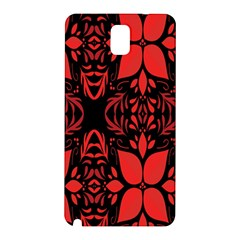 Christmas Red And Black Background Samsung Galaxy Note 3 N9005 Hardshell Back Case by Sapixe
