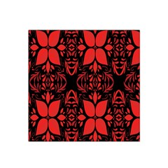 Christmas Red And Black Background Satin Bandana Scarf