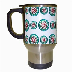 Christmas 3d Decoration Colorful Travel Mugs (white)