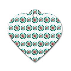 Christmas 3d Decoration Colorful Dog Tag Heart (two Sides) by Sapixe