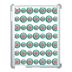 Christmas 3d Decoration Colorful Apple Ipad 3/4 Case (white)