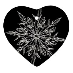 Ice Crystal Ice Form Frost Fabric Ornament (heart)