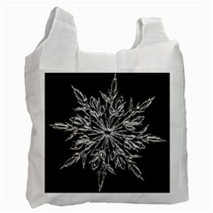 Ice Crystal Ice Form Frost Fabric Recycle Bag (two Side)