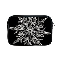 Ice Crystal Ice Form Frost Fabric Apple Ipad Mini Zipper Cases by Sapixe