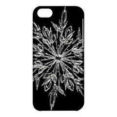 Ice Crystal Ice Form Frost Fabric Apple Iphone 5c Hardshell Case by Sapixe