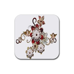 Gems Gemstones Jewelry Jewel Rubber Coaster (square)  by Sapixe