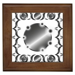 Metal Circle Background Ring Framed Tiles by Sapixe